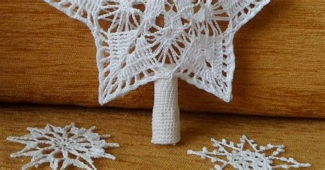 knitting pattern christmas tree topper crochet christmas tree topper and snowflakes crochet