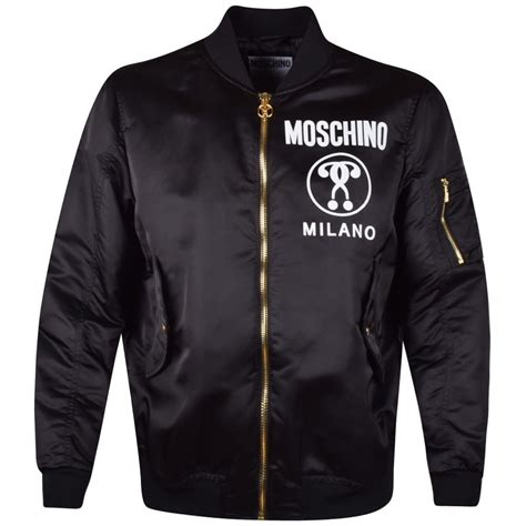 Moschino Bomber Jacket moschino moschino black logo bomber jacket