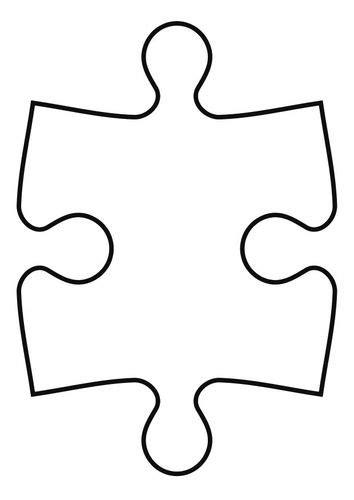puzzle template 8 pieces kleurplaat puzzelstuk line drawings
