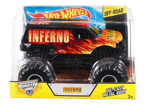 mattel monster jam wheels monster jam inferno 1 24 die cast vehicle