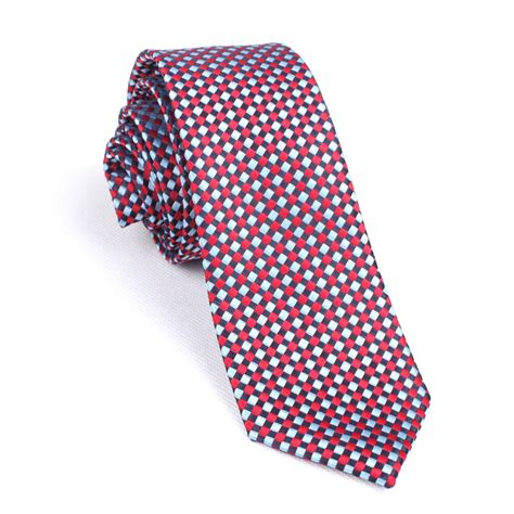 light blue skinny tie navy and light blue red checkered skinny tie men ties