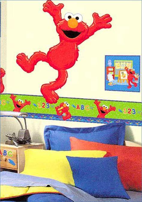 elmo bedroom wallpaper sesame street s elmo time to learn kids wallpaper border