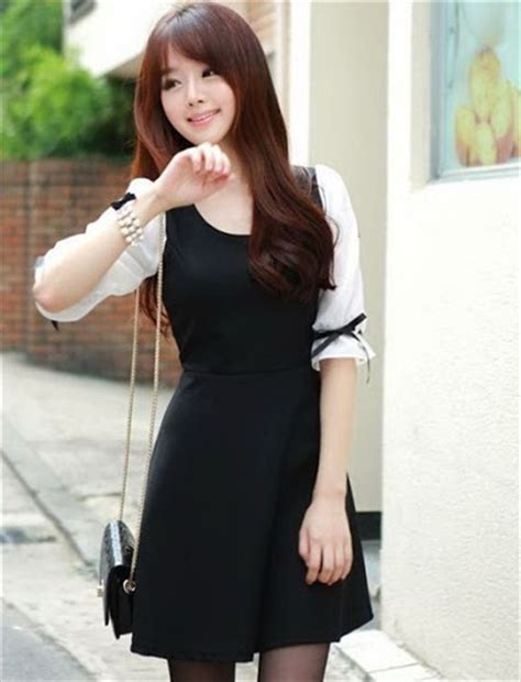 Dress Casual Baru Dress Wanita Murah Ve90dbsz Dress Black Square gaya fashion wanita korea style casual