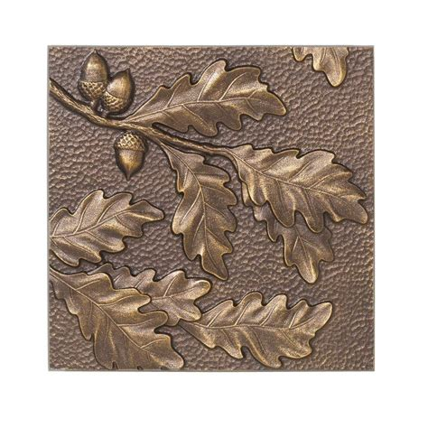 whitehall products 8 in oak leaf aluminum wall decor