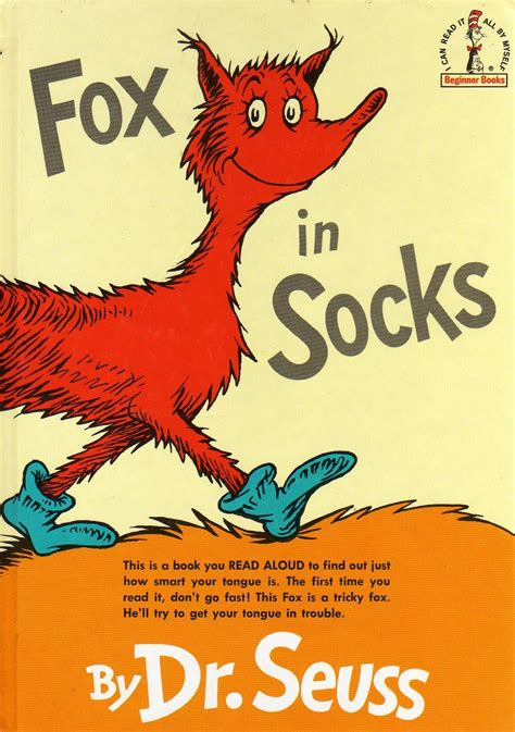 pictures of dr seuss book covers fox in socks onlinebooksforchildren