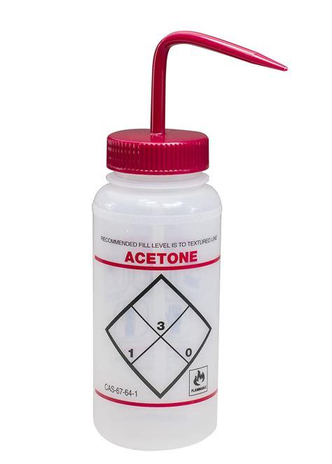 Bel Art Safety Labeled 2 Color Acetone Wide Mouth Wash