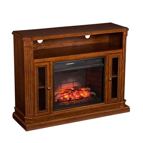 infrared fireplace tv stand southern enterprises atkinson infrared electric fireplace