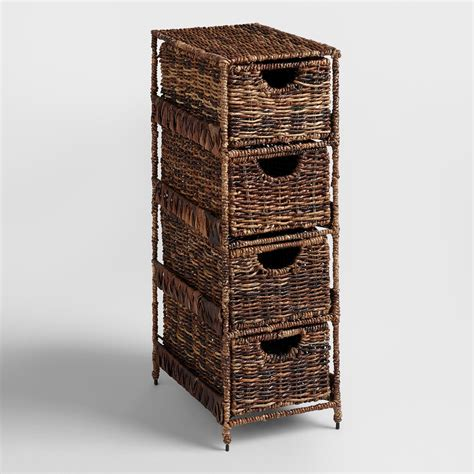 bathroom storage tower with drawers 4 drawer madras tower world market