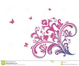 cor de rosa floral borboleta foto de stock imagem