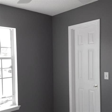 done with painting color of my new home office seal grey from glidden color matched to behr