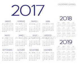 Calendario 2017 Colombia Vector Vector De Calendario 2017 2018 2019 Espa 241 Ol Vector De