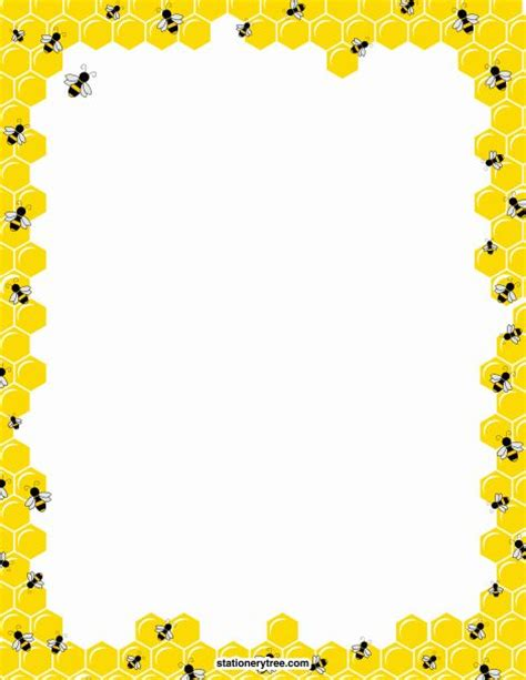 printable bee stationery printable bee stationery and writing paper free pdf