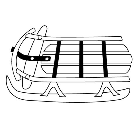 Sled Pictures Page Sled Coloring Pages