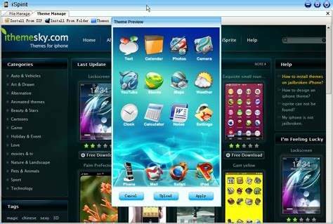pc themes apps ispirit iphone manager utility to manage apps themes