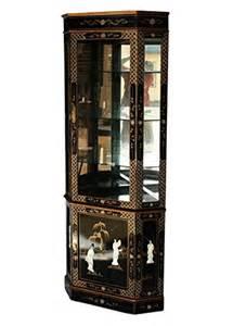 Cheap Corner Curio Cabinets For Sale Cheap Black Lacquer Wooden Corner Curio Cabinet Model 3240