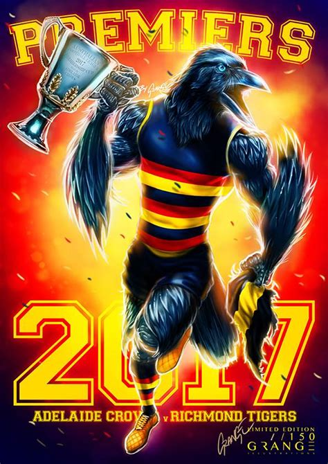 Adelaide Crows Adelaide Crows Premiership Poster By Grange Wallis Afl