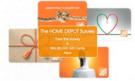 Home Depot Sweepstakes - home depot survey sweepstakes customer feedback satisfaction survey
