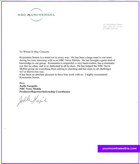 best photos of personal reference letter format personal