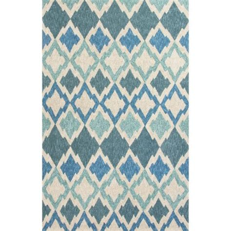 6x9 Indoor Outdoor Rug Jaipur Indoor Outdoor Coastal Pattern Blue Ivory Polyester Area Rug 7 6x9 6