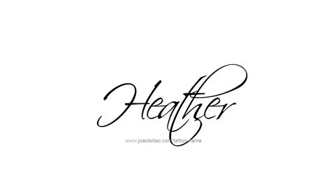 heather tattoo designs name tattoos images