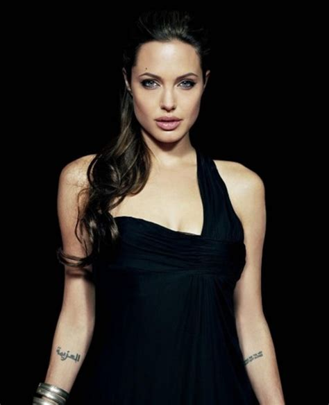 tattoo angelina jolie arm angelina jolie arabic tattoo design on arm angelina jolie
