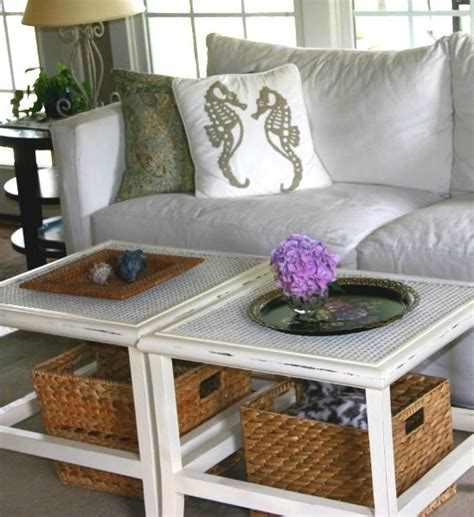 baskets for under coffee table coastal wicker baskets decorative storage ideas for a
