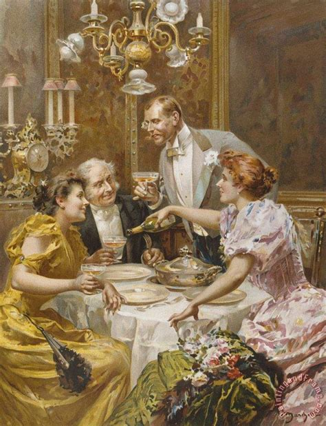 dinner painting ludovico marchetti dinner in the