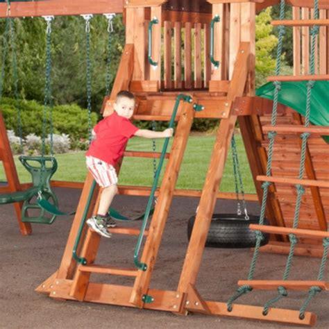 sequoia swing set new giant cedar wood kids swing set playground slide play