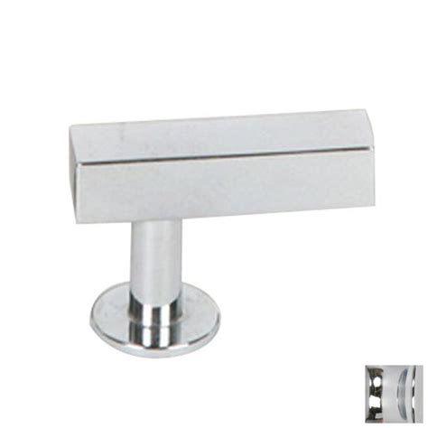 polished chrome cabinet knobs shop lew s hardware bar polished chrome rectangular