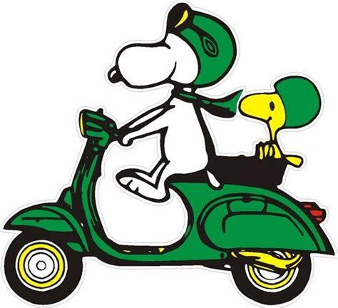 Snoopy Toska vespa scooter aufkleber snoopy auf vespa gruen 3