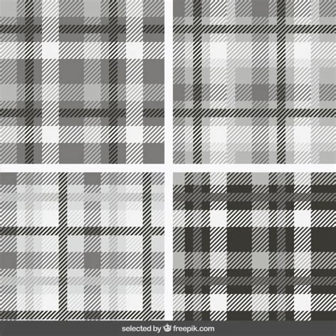 burberry pattern ai monochrome tartan patterns collection vector free download