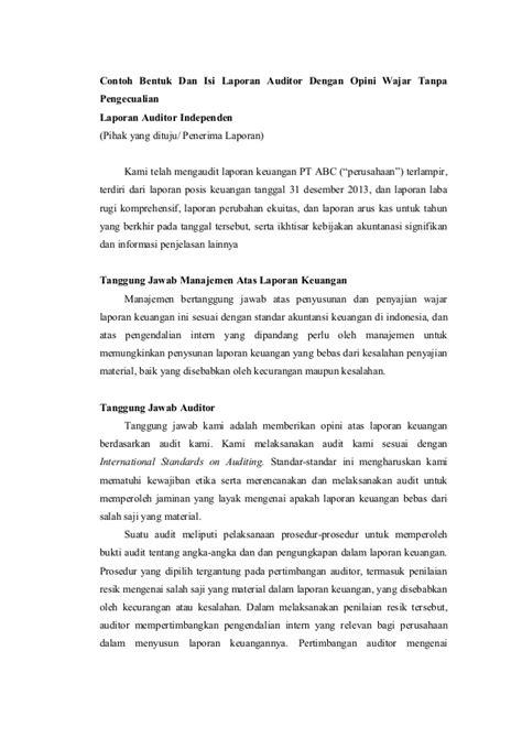 7 audit atas laporan keuangan pendapat auditor atas