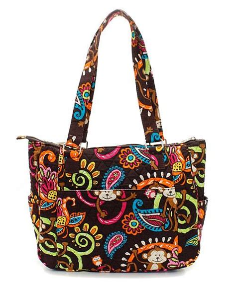 Quilted Purses Vera Bradley by 14 Quot Quilted Shoulder Tote Carry All Handbag Purse Bag 1