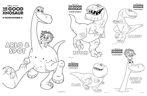 good sheets the good dinosaur coloring pages and activity sheets