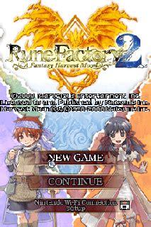 emuparadise rune factory 4 rune factory 2 a fantasy harvest moon u xenophobia rom