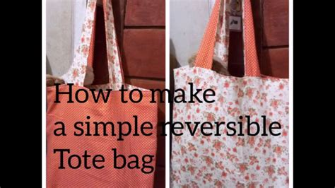 tutorial tas belanja tote bag tutorial cara membuat tas belanja dari kain