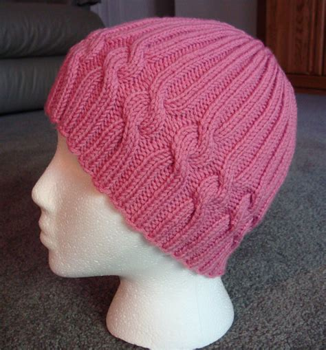 knit helmet pattern free s knitting korner free ribbons of hat pattern