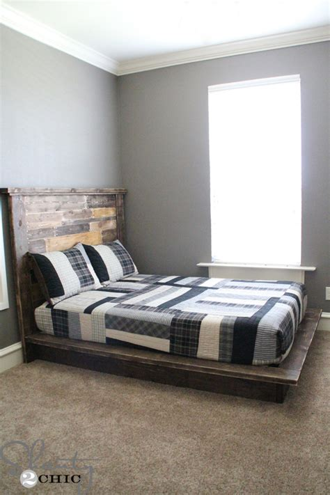 diy beds easy diy platform bed shanty 2 chic