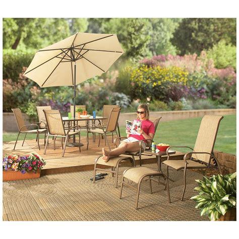 patio furniture mesa castlecreek 174 mesa patio dining set 234371 patio