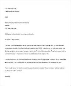 Exle Appeal Letter For Unemployment Benefits Sle Appeal Letter 10 Exles In Word Pdf