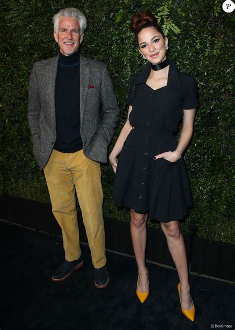 matthew modine oscar matthew modine ruby modine lors du d 238 ner chanel and