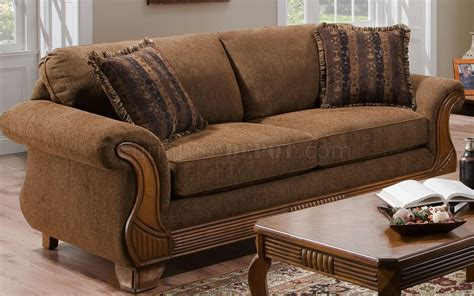 Chocolate Fabric Traditional Sofa Loveseat Set W Throw Sofa Pillow Sets