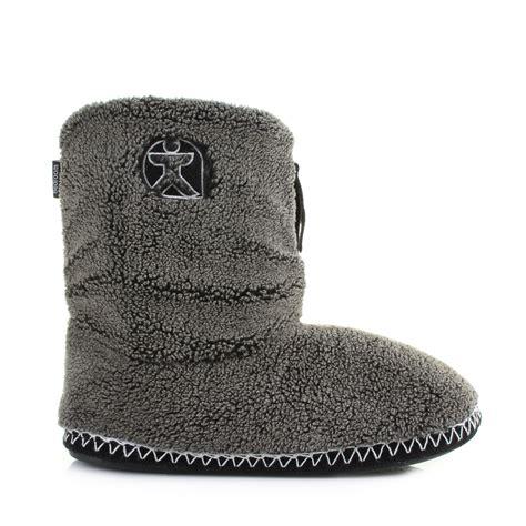 fleece slipper boots mens bedroom athletics crowe washed black fleece snow tip