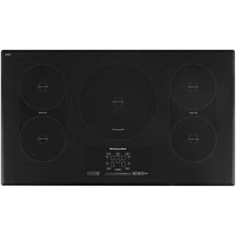 kitchen aid induction cooktop kitchenaid architect series ii 36 in smooth surface