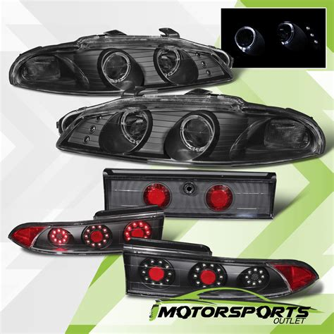 Mitsubishi Eclipse Lights by 1997 1999 Mitsubishi Eclipse Led Halo Projector Headlights