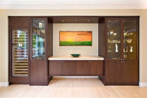 bar cabinets contemporary dining room san francisco dining room with sideboard built in and wine cooler