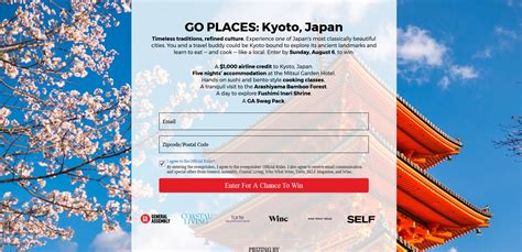 Japan Sweepstakes 2017 - featured sweepstakes 5 night trip to kyoto japan including cooking classes