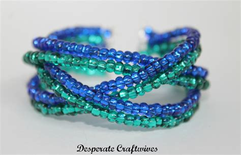 desperate craftwives braided memory wire bracelet
