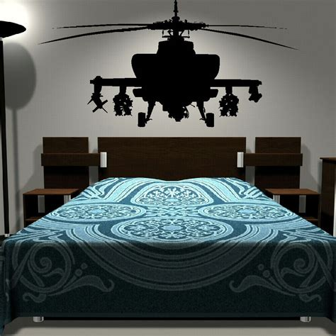 murals for bedrooms removable army helicopter sticker bedroom art decal boys