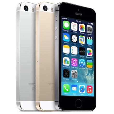 new apple iphone 5s at&t smartphone with touch id, me307ll